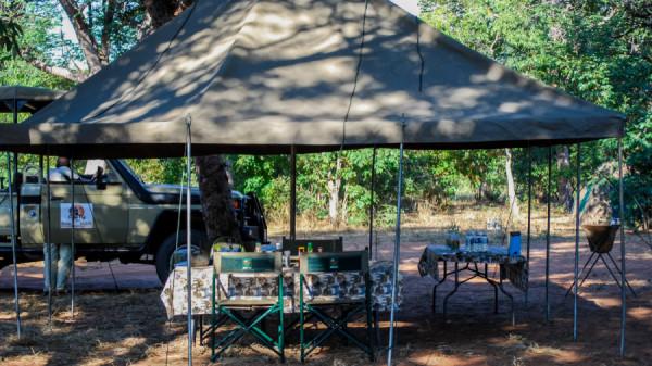 Tea table and refreshments - Botswana Safari Tours